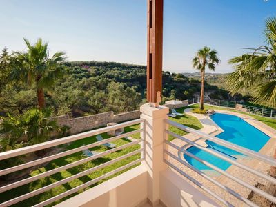Photo for Wonderful private villa for 7 guests with private pool, hot tub, A/C, WIFI, TV, balcony and park...