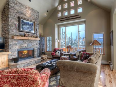 Photo for Vacation In Luxury With Eye-Popping Views. Private Deck, Hot Tub, & Ski Access!
