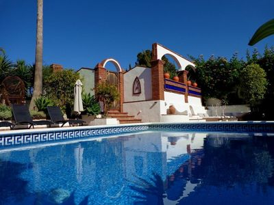 Photo for Stunning Secluded Villa With Private heated Pool Set In Lush Tropical Gardens