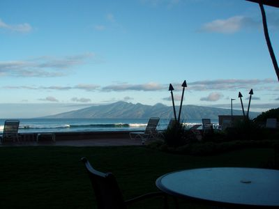 Sunrise on Molokai while sipping your morning coffee on the lanai
