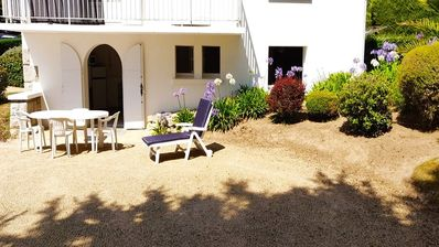 Photo for Charming garden level 140 meters from the beach!