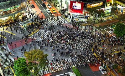 Just a few steps to the famous shibuya crossing