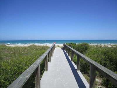 Come relax on Cocoa Beach! Your private beach entrance is calling you!