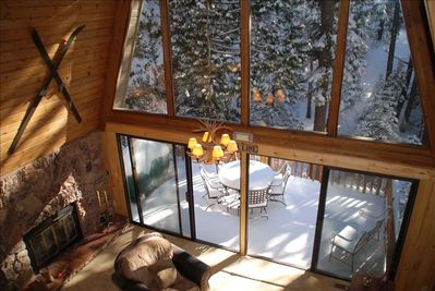 Here is another photo from the loft after a fresh snow. This room sleeps 3. What a great view to wake up to.
