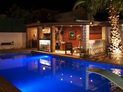 Photo for Club Villamar - Charming villa with a lovely private pool, exterior kitchen, barbecue area, inter...