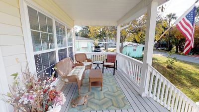 Front porch to enjoy your morning coffee