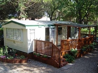 28 x 12 mobile home with full terrace, on quiet spacious plot.