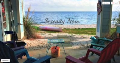 """Photo for """"SERENITY NOW"""" ON BEACH - 3 Levels of Spectacular Waterfront Views with Pool"""