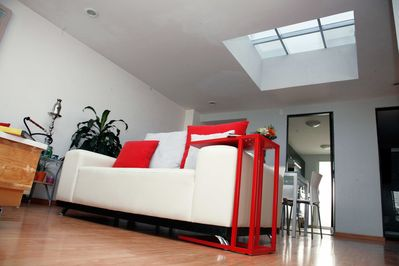 The skylight make a very luminous and comfortable apartment