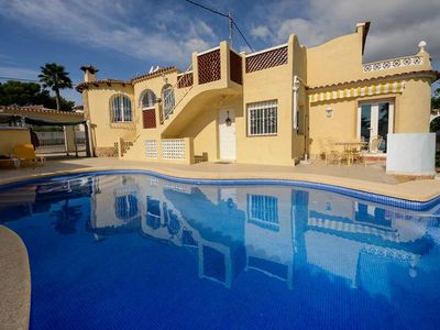 Photo for Sea view villa m. Pool and separate apartment 700m from the beach