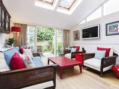 Photo for Charming English Home sleeping 5, in leafy Fulham, Close to the Thames (Veeve)