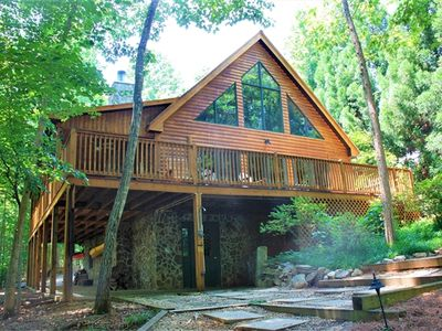 Photo for Barnett -  Log Home Lodge at SML, Game Room, Outdoor BBQ Pit, Pet Friendly
