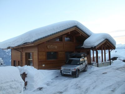 Photo for Stunning contemporary ski chalet with unbelievable open views of the mountains