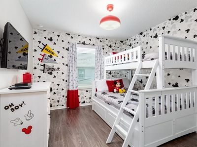 Photo for *SANITIZED* DISNEY LUXURY* Mickey and Minions themed! Solara 4 bedrooms Private Pool *No carpet*