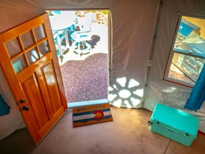 """Photo for Beach Front Yurts - """"Sunshine"""" 