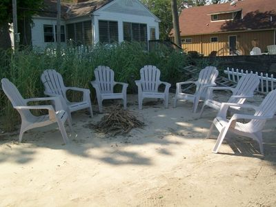 Build a fire and roast some marshmallows on private sandy beach