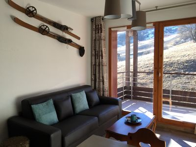 Photo for Le Corbier Res. The Tracks App. 3 Pcs. 40M2 view on the slopes (6 people)