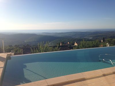 Photo for Tourrettes-sur-Loup, luxurious villa with exceptional panoramic view
