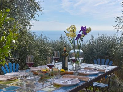 Photo for Relax and Charme immersed in the Ligurian countryside, with wonderful sea view.