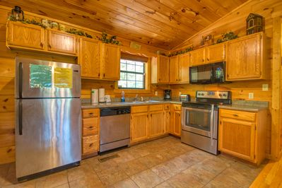 Contemporary Kitchen - Enjoy breakfast or a great cooked dinner at your own log cabin in Pigeon Forge!