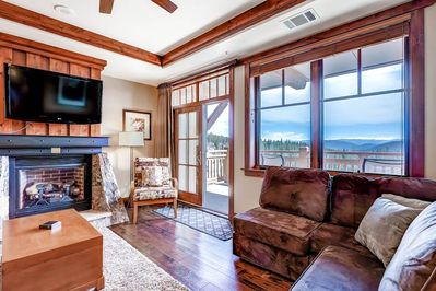 Take advantage of the the gas fireplace, flat screen TV, and cozy living room
