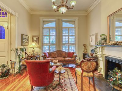 Photo for Charming townhome w/ furnished patio & pool table - in the historic district!
