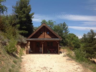 Photo for Provencal drome chalet with private swimming pool above ground