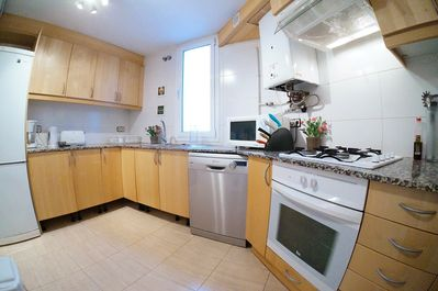 Kitchen (photo with fish-eye lens)