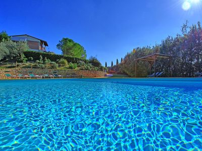 Photo for Private Villa with WIFI, private pool, terrace, panoramic view, parking, close to San Gimignano
