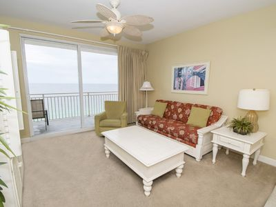 Photo for Lovely Beach Front Condo in PCB!~ Private Balcony and Great Resort Amenities!