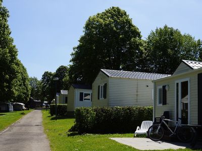 Photo for Nice chalet, situated in holiday park with swimming pool, nearby the town of Spa
