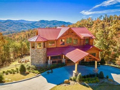 Summit Castle is a large one-of-a-kind log castle with incredible mountain views