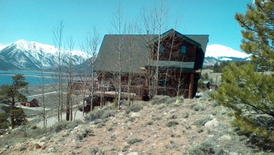 Photo for Relaxing Log Cabin Retreat overlooking Twin Lakes, stunning views!