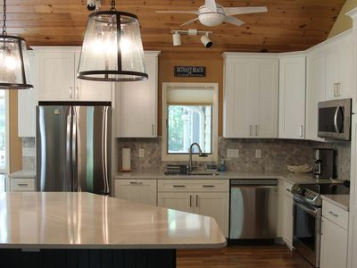 Photo for *New Kitchen & Bathrooms* Clean, Quiet Home; Wooded Lot; Private, Guarded Beach