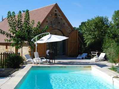 Photo for beautiful barn restored near FIGEAC private pool, 6/8 persons,