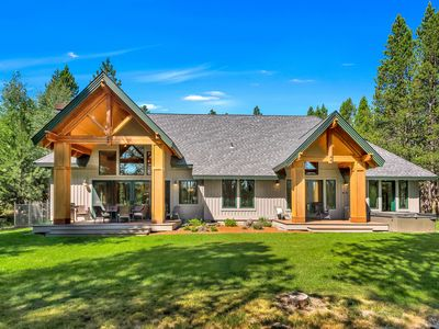 Photo for New Listing! Upscale Duplex on Deschutes River w/ Hot Tub & Dock