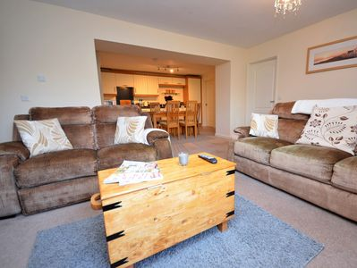 Relax on the comfortable sofas in the lounge area