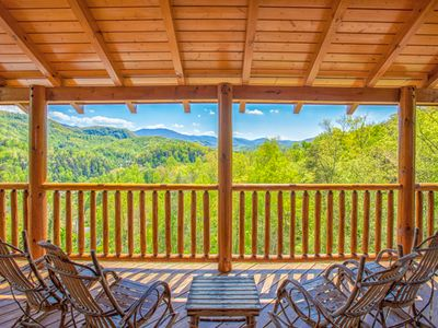 Photo for Destiny's Heavenly View, 5 Bedrooms, Sleeps 16, Pet Friendly, Hot Tub, Pool Table