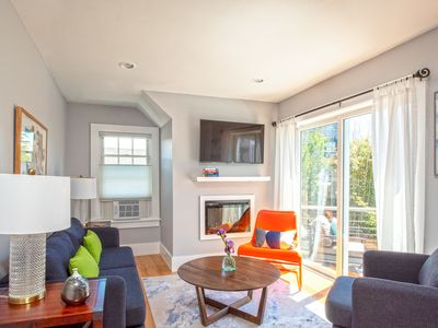 Photo for Sunny condo with private deck and beach access. Newly renovated