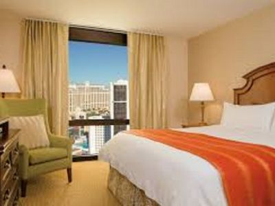 Photo for Luxury One Bedroom overlooking Las Vegas Strip Sleeps 4 Marriott Grand Chateau
