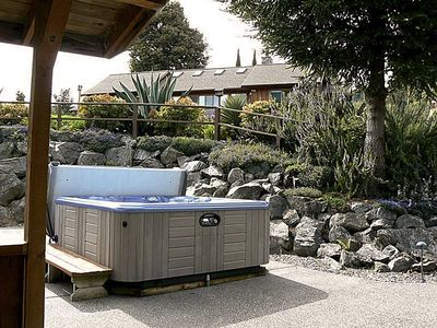 Private Hot tub Grotto with gazebo
