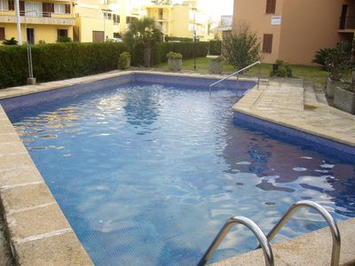 Photo for Modern apartment near the beach for 6 + 1 people with pool, AACC and WIFI