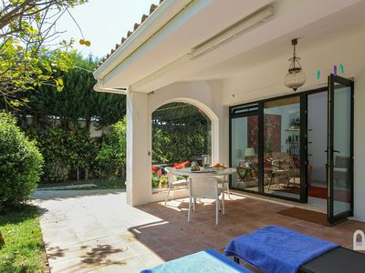 Photo for Luxury apartment in Fuente del Gallo, very close to the sandy cove, shared pool.