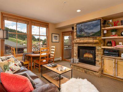 Photo for BRAND NEW DECOR! | Slopeside Views | Ski In\Ski Out | Cozy 2BD | Hot Tub