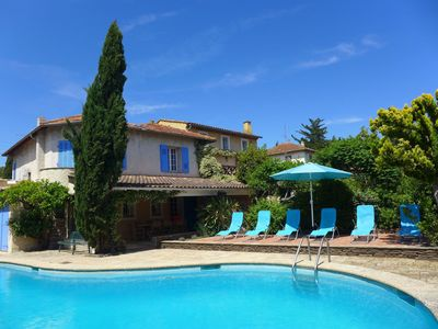 Photo for Beautiful apartment for 6 guests with private pool, A/C, WIFI, TV, pets allowed and parking