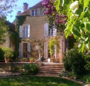 Photo for Beautiful  1850 Maison bourgeois with private pool, between Chablis and Beaune
