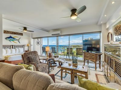 Beach View+Vibe! Highly Upgraded w/Gourmet Kitchen, WiFi, Lanai–Waikiki Shore #908