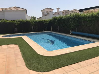 Photo for super villa with 3 bedrooms and 3 bathrooms with a pool