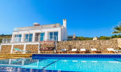 Photo for 4 Bedroom, with Private pool, AC in all rooms, Free WiFI & UK TV, great Sea view