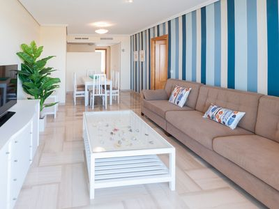 Photo for Luxury apartment 35 meters from Gandia Beach and beautiful sea views